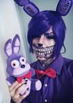 Twisted Bonnie Makeup by HazyCosplayer