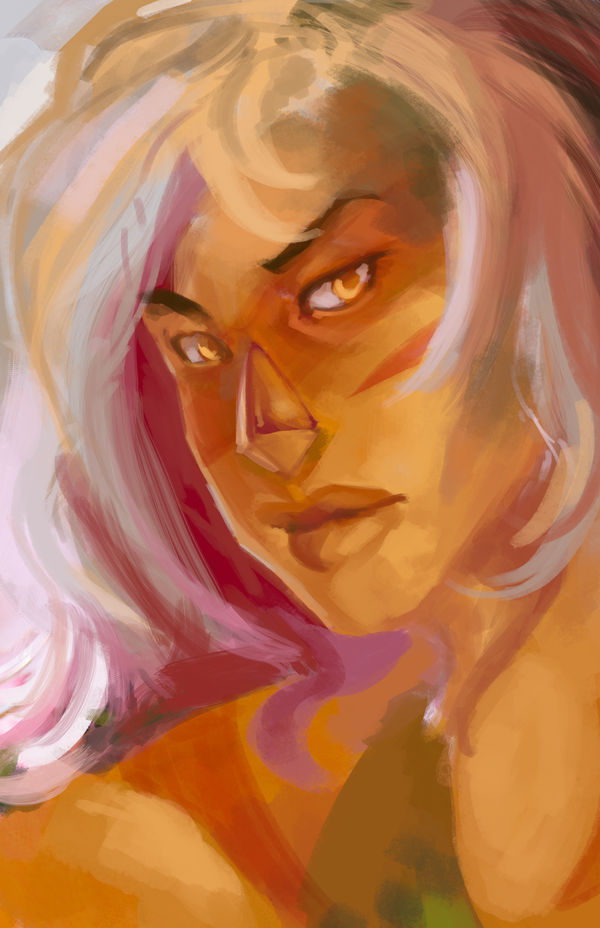 I painted this from a picture of creme brulee for fun,, Sketchy sketch. ♥♥