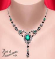 Absinthe Rhinestone Necklace by Valerian