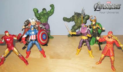 Avengers face off by Deadman0087
