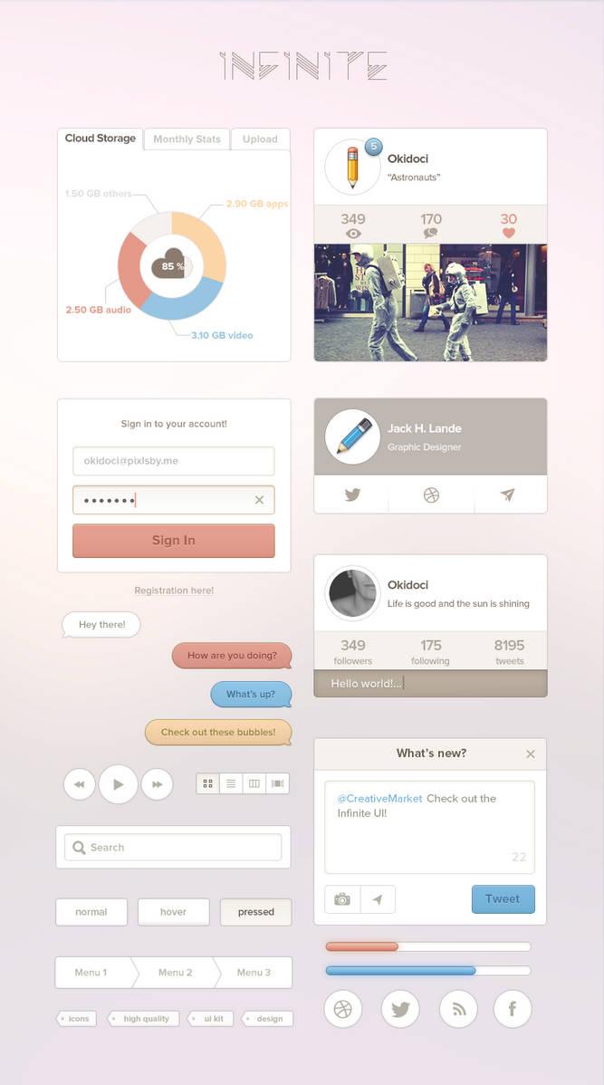 Infinite UI Kit by okidoci