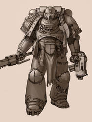 Space Marine Shading by Zer0Frost