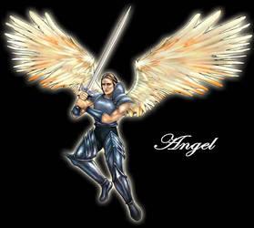 HOMM4 CCG Poster - Angel by JaemeNewton