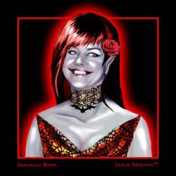 Shannon Bjork Vampire Portrait by JaemeNewton