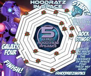 HOODRATZ IN SPACE GALAXY FOUR MAZE GAME! by erockalipse