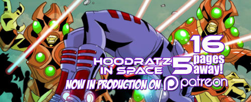 HOODRATZ IN SPACE issue #5 is only 16 pages away! by erockalipse