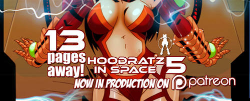 HOODRATZ IN SPACE issue #5 is only 13 pages away! by erockalipse