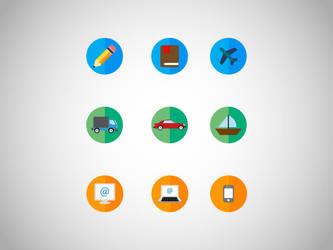 Flat icons by slipie