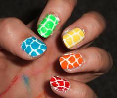 Rainbow Giraffe by lettym