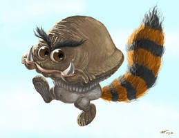 Tanooki Goomba by Ammonite-Amy