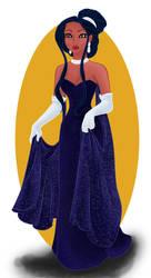 Pocahontas as Anastasia by Dledee