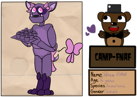 Camp Fnaf Season 2 Patricia Application by FiretailCat