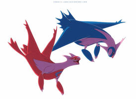 Latias and Latios by francis-john
