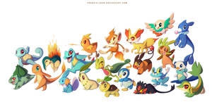7 Generations of Starters by francis-john