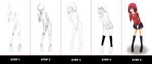 Full Body Drawing Tutorial by anicemanhotty