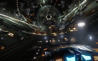 docked at orbital by eyemageone