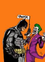 Batman  V Joker color by nic011