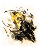 Ghost Rider Jhonny blaze by nic011