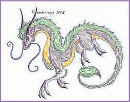 Furry Eastern Dragon by Ember-Eyes