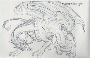 Dragon PenSketch by Ember-Eyes