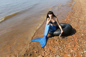 Bored mermaid stock (2014) by QueenWerandra