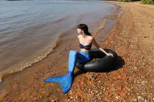 Mermaid profile stock (2014) by QueenWerandra