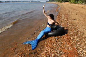 Waving mermaid stock (2014) by QueenWerandra
