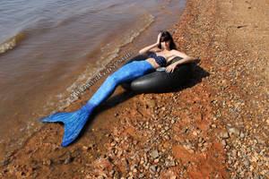 Relaxing mermaid (2014) by QueenWerandra