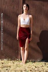 Glamaker split velvet bodycon skirt by QueenWerandra