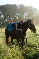 Gypsy girl with horse by QueenWerandra
