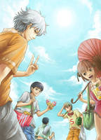 The summer days of Gintama by koulin