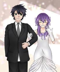 Yuichiro x shinoa wedding by narutoreissuzumaki6