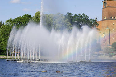 The fountain in Eskilstuna by gogosweden