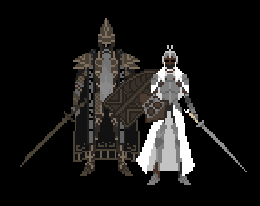 Dark souls II: Throne Defender and Throne watcher by FredH10
