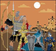 Dark souls: The Four Knights of Gwyn by FredH10