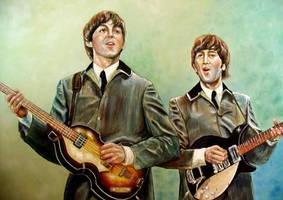 Beatles Paul Mccartney and John Lennon by Beatles74i0c