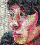 Knit painting: Sra by dartily