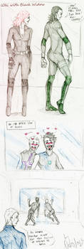 Loki team-up with ...Black Widow by Sanzo-Sinclaire
