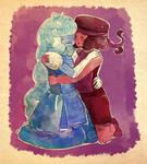 (Speedpaint) Sapphire and Ruby by Ekkoberry