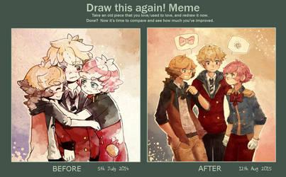 Draw this again meme: Babs by Ekkoberry
