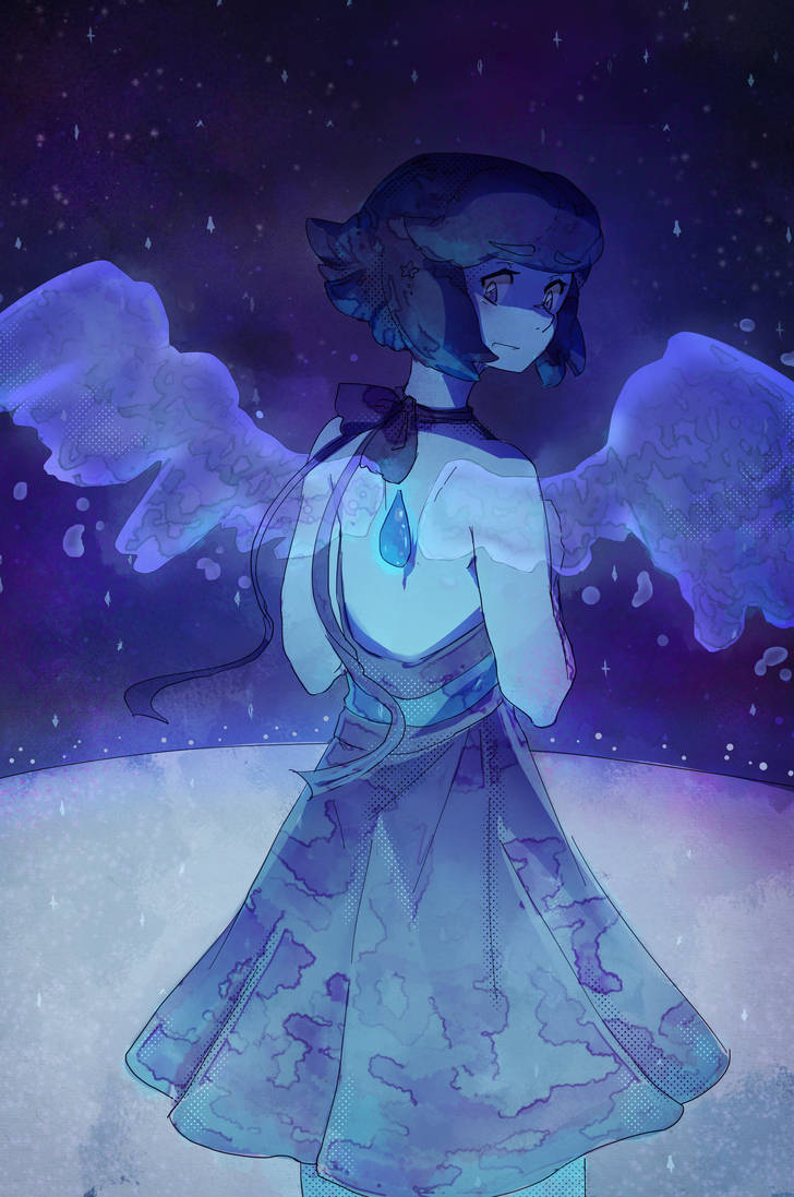Decided to take the suggestion of drawing lapis (thank you mildron!) and it turned out to be a lot of fun! I don't often draw water suspended in the air LOL her wings turned into a really fun chall...