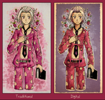 Traditional/Digital Comparison: Fugo by Ekkoberry