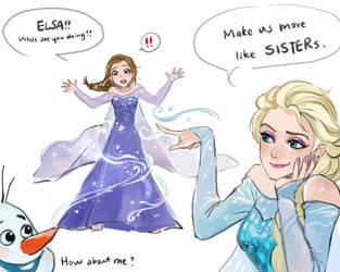 [doodle][Frozen] by CHAYI105
