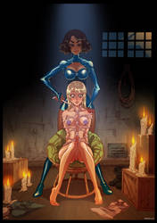 Lesbian Couple Bondage (Silky Diamonds) by bondage-fan-comics