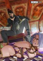 Bayonetta Dominates Ivy by bondage-fan-comics