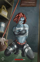 Mystique Bound and Gagged by bondage-fan-comics