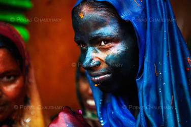 Lady in Blue by poraschaudhary
