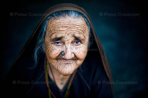 A Wrinkled Face by poraschaudhary