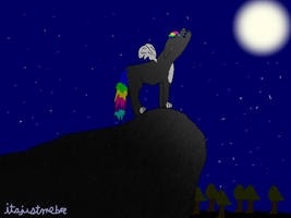 Grenade Howling at the Moon by itsjustmebre