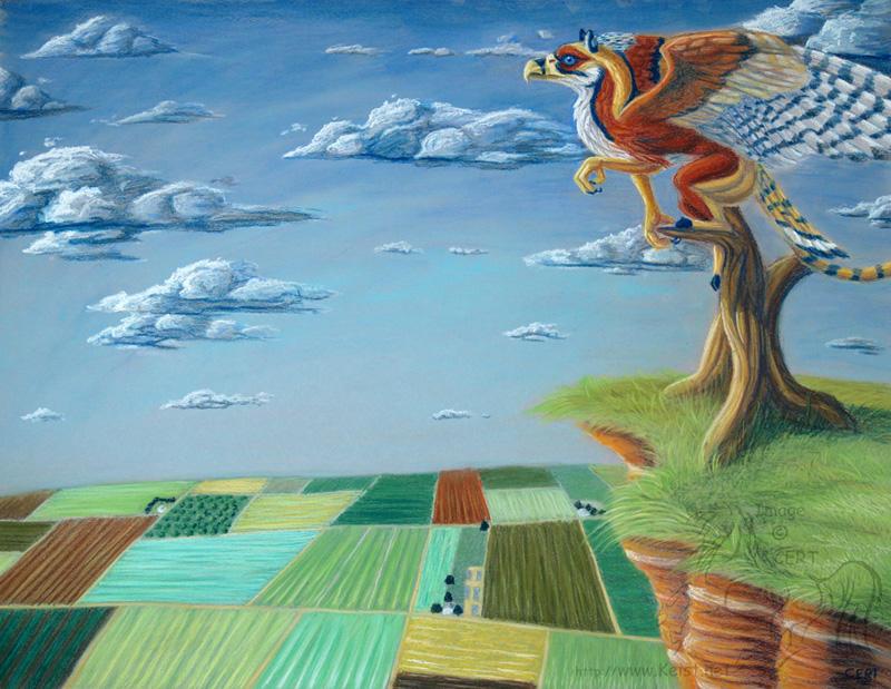 Kywehn over Farmland by lantairvlea